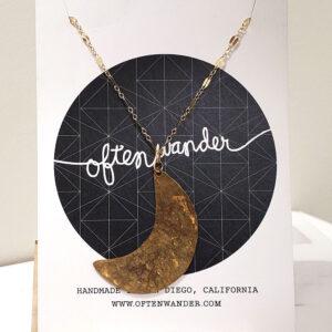 Often Wander HalfMoon Necklace